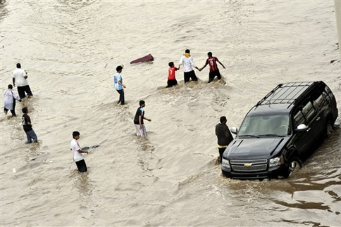 Flood at Jeddah 2011