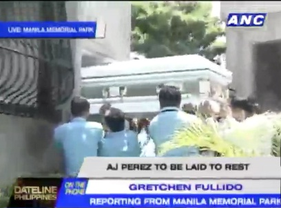 AJ Perez' Funeral at Manila Memorial Park, Parañaque City