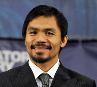 The 39-year old son of father Rosalio Pacquiao and mother Dionesia Dapidran-Pacquiao, 165 cm tall Manny Pacquiao in 2018 photo