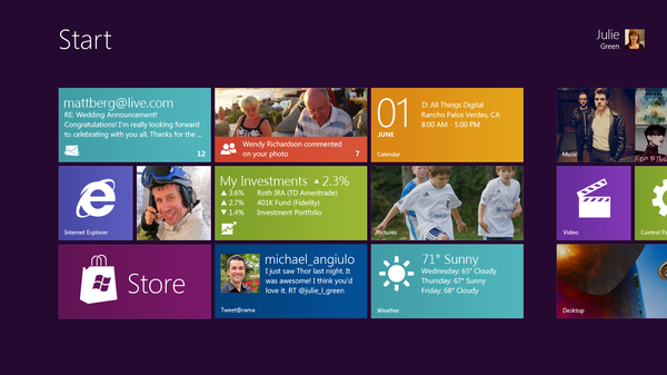 the face of Windows 8
