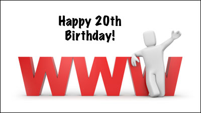 Say Happy 20th Birthday to World Wide Web Today