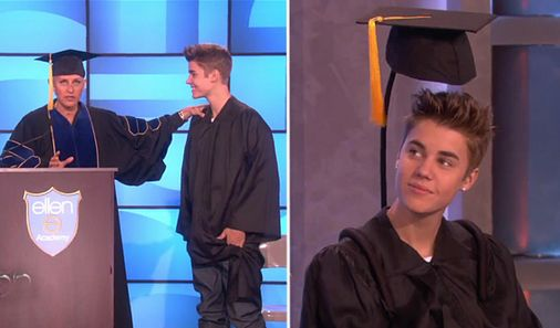 Justin Bieber Graduated with a Specially-Designed Hat from