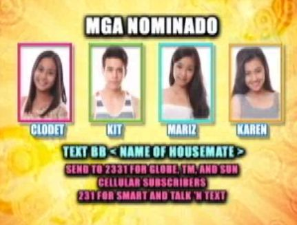 PBB Fourth Nomination Night Results