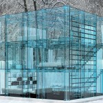 Simplicity: Amazing See-Through Glass House by Carlo Satambrogio