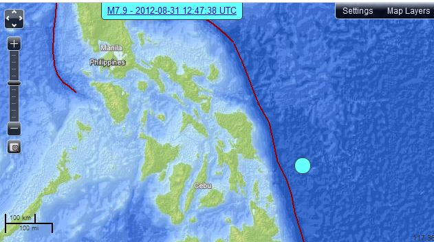 7.9 Earthquake in the Philippines