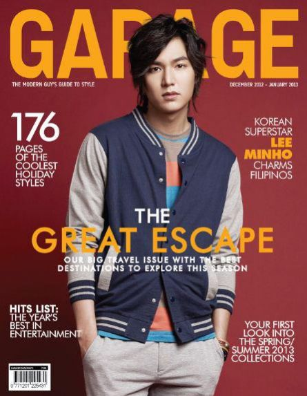 Lee Min Ho in Garage magazine