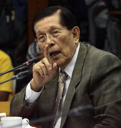 Juan Ponce Enrile Resignation Rejected