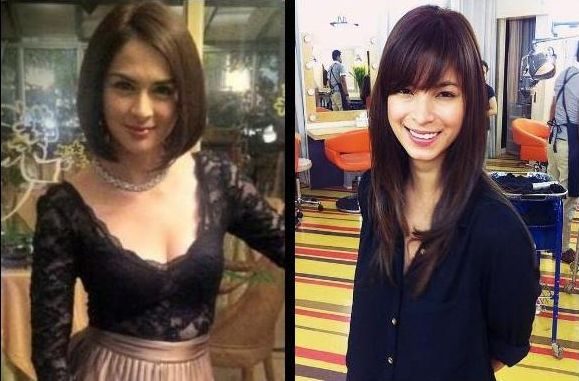 Remarkable Angel Locsin Amp Marian Rivera Hairstyles Photo Goes Viral Short Hairstyles For Black Women Fulllsitofus