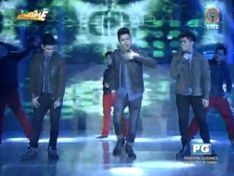 here s the performance video of vhong together with his two sons