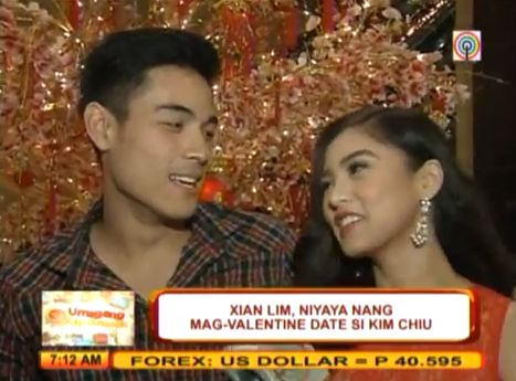 Xian Lim Asked Kim Chiu as Valentine Date (Video) | Philippine News