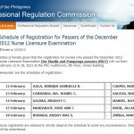 December 2012 NLE Registration for Nurses Schedule Released