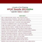 UPCAT 2013 Results Now Available Online