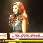 Sarah Geronimo Nominated for World Music Awards 2013 (Video)