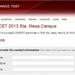 PUPCET 2013 Results Released: Sta. Mesa Campus