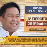 JV Ejercito & Loren Legarda Tops TV & Radio Pol Ads Spending