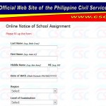 April 2013 Civil Service Exam School Assignment Online Inquiry Released