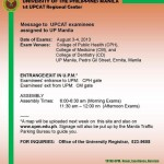 UPCAT 2013 Exam Guidelines Released by UP Manila