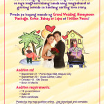 Couple's Reality Show Audition Schedule Davao and Manila