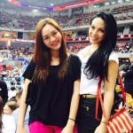 KC Concepcion Supporting Chandler Parsons During Rockets vs. Pacers Game