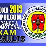 NAPOLCOM PNP Entrance & Promotional Exam Results October 2013 Passers List