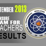 Sept. 2013 LET Exam Results Schedule of Registration & Oath Taking