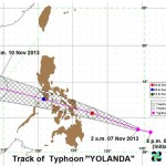 Super Typhoon Yolanda Storm Signals According to PAGASA (Nov. 7, 2013)