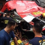 Don Mariano Transit Bus Falls Off the Skyway (Video)