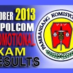 NAPOLCOM Police Inspector Exam Results (Oct. 2013) List of Passers