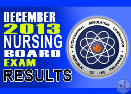 Nursing Board Exam Results