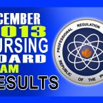 Nursing (NLE) Board Exam Results Alphabetical List of Passers (December 2013)