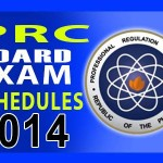 PRC Board Exam Schedules for Year 2014