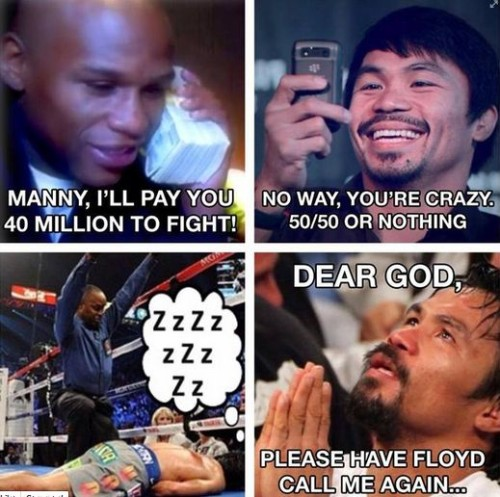 Philippine Viral News And Videos Home: Floyd Mayweather Meme Bashing Pacquiao Went Viral