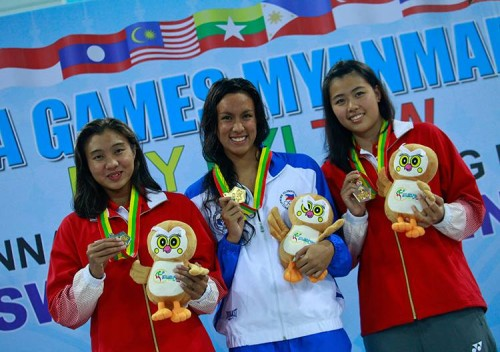 Jasmine Alkhadi in SEA Games swimming comp.