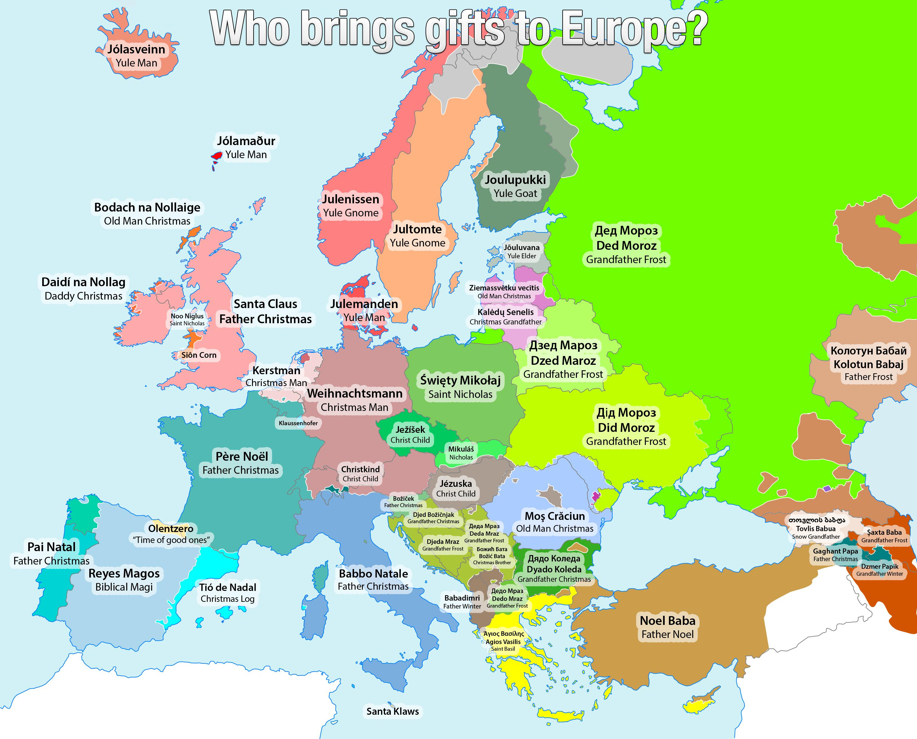 santa claus other names in europe philippine news