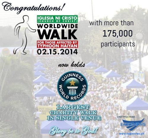 INC Charity Walk Broke Two Guinness World Records