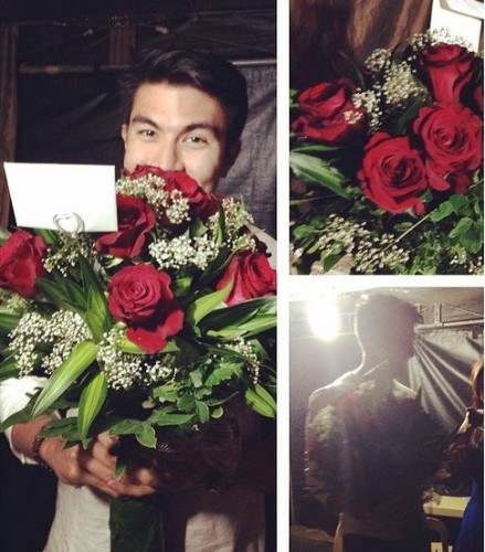 Luis Manzano Surprise Angel Locsin with Flowers on Valentines Day
