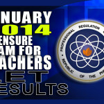LET Exam Results Secondary List of Passers (January 2014)