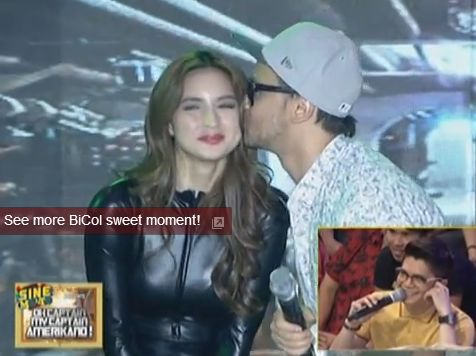 Billy Crawford Kissing Coleen on It's Showtime (Video)