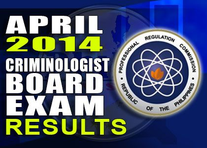 Criminologist Board Exam Results Complete List of Passers (April 2014)