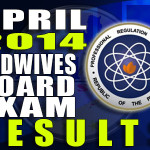 Midwives Board Exam Results List of Passers (April 2014)