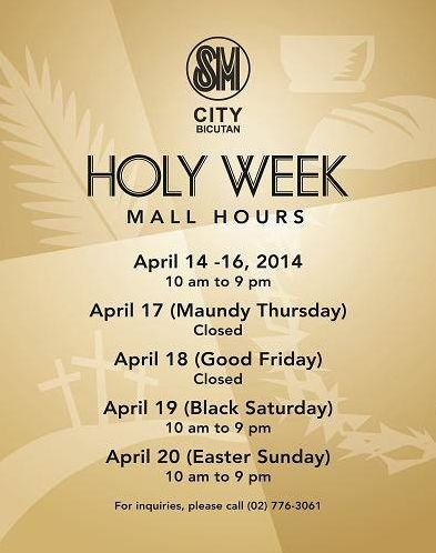 Listed below are the official schedule of SM Mall Hours: