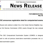 CSC Announced COMEX Test Schedules & Registration Details