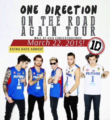 One direction on the road again tour dates