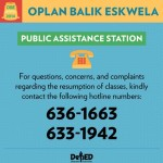 DepEd Released Help Desk Hotlines for SY 2014-2015 Class Opening