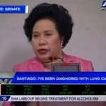 Sen. Miriam Defensor Santiago Diagnosed with Stage 4 Lung Cancer