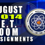 LET Room Assignments & Schedules for PRC Cebu City (August 2014)