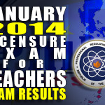 LET (Teachers Board) Exam Results List of Passers (August 2014)