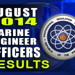 Marine Engineer Board Exam Results List of Passers (August 2014)