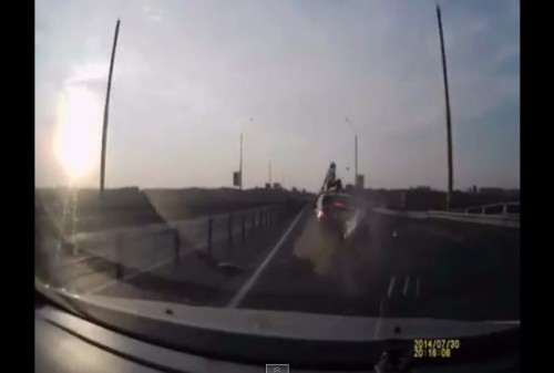 This is the Worst Bike-on-Car Collision Ever Happened But What Happens Next is Jaw-Dropping!