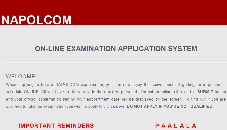 Napolcom Online Application Oleass Now Available For Pnp